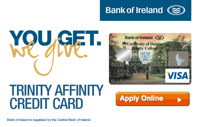 Affinity credit card development alumni trinity college dublin affinity credit card reheart Image collections