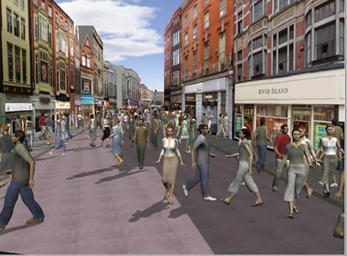 Real-time 3D simulation of clothing in the Virtual Dublin project