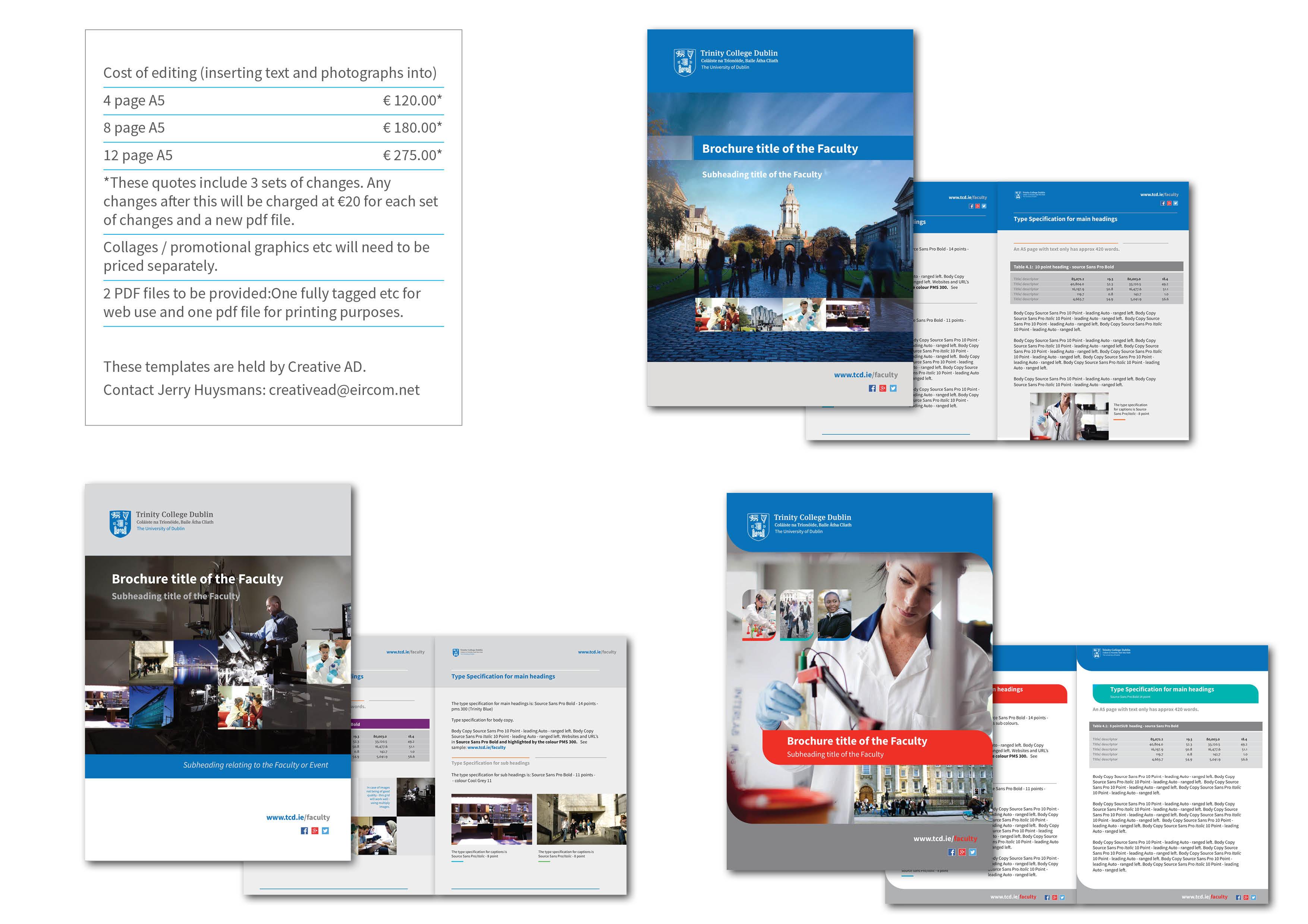 brochure website templates - trinity s visual identity trinity college dublin
