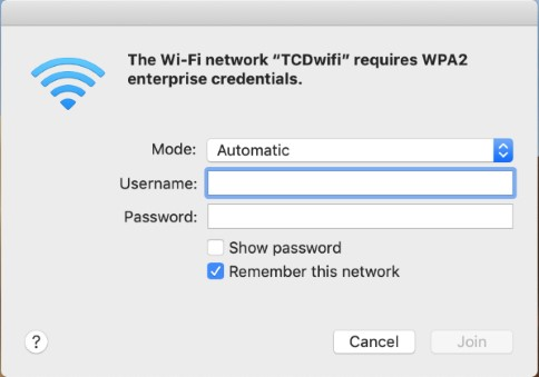 Find and join a Wi-Fi network