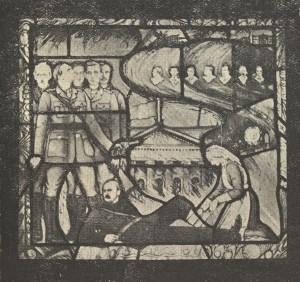 Capuchin Annual 1936 (window pane)(detail)