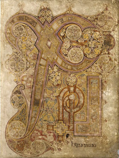 The Book of Kells, ca. 800, TCD MS 58, f. 14r © The Board of Trinity College Dublin, the University of Dublin. 2015.