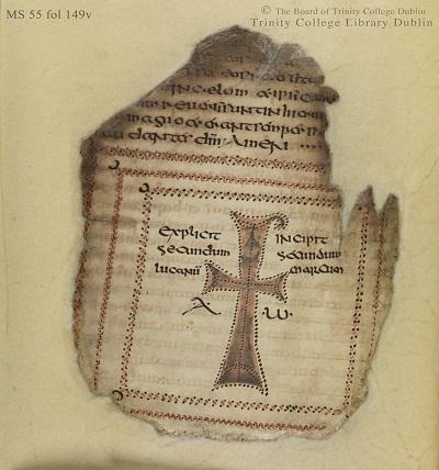 Figure 6 Codex Usserianus Primus, 7th c., TCD MS 55, f. 149v © The Board of Trinity College Dublin, the University of Dublin. 2015.