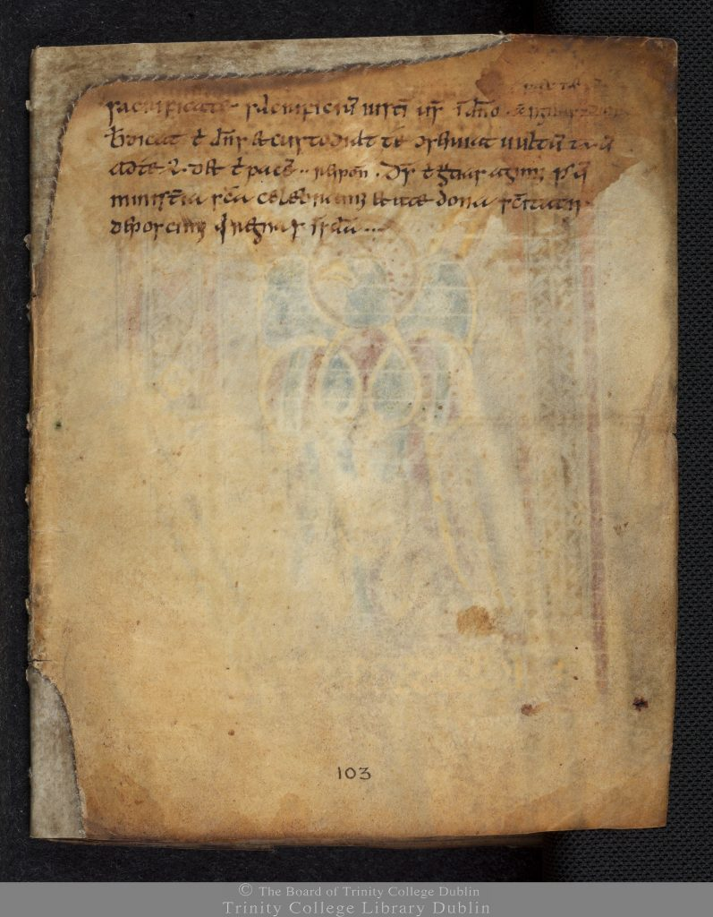 The Book of Dimma, 2nd half of 8th century, TCD MS 59, p. 104 © The Board of Trinity College Dublin, the University of Dublin. 2015.