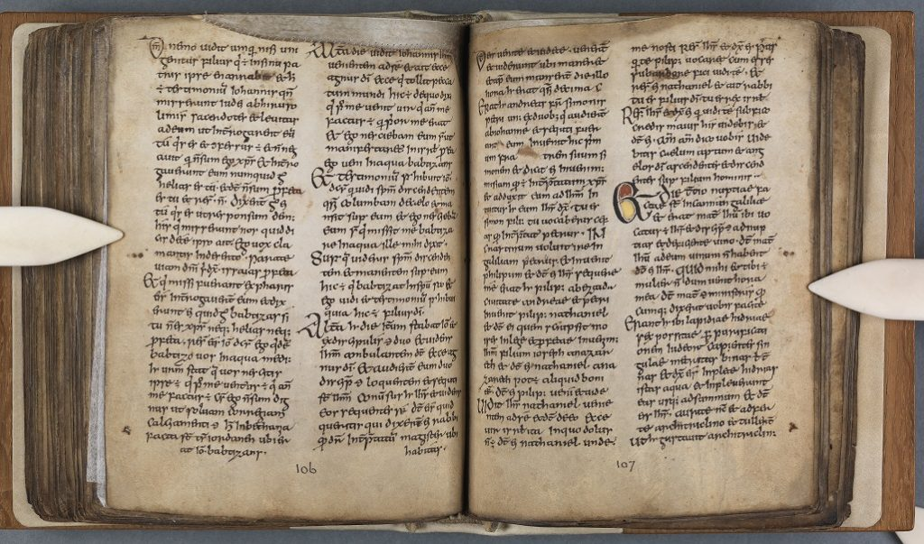 Figure 4 The Book of Dimma, 2nd half of 8th century, TCD MS 59, ff. 106-107 © The Board of Trinity College Dublin, the University of Dublin. 2015.