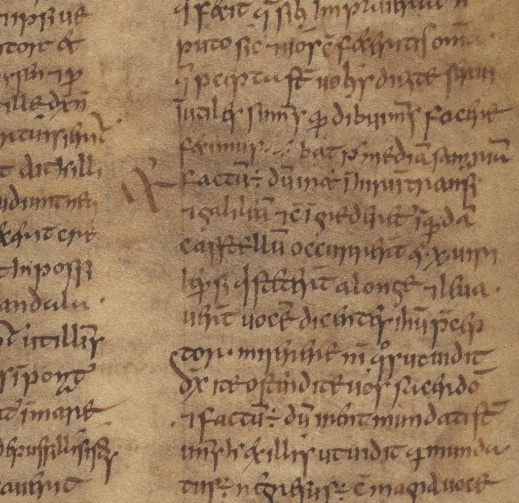 The Book of Mulling, 2nd half of 8th century, TCD MS 60, f. 73r © The Board of Trinity College Dublin, the University of Dublin. 2015.
