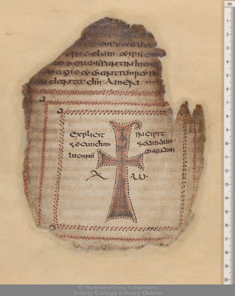 Codex Usserianus Primus, 5th or early 7th century, TCD MS 55, f. 149v.