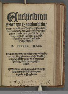 Enchiridion oder eyn Handbuchlein … (1524)