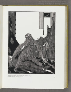 Clarke's illustration to 'The murders in the Rue Morgue' from Poe's Tales of mystery and imagination (London, 1919), OLS X-2-586.