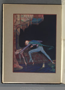 Clark's colour frontispiece to the reissue of Poe's Tales (London and New York, [1924]), OLS X-2-585.