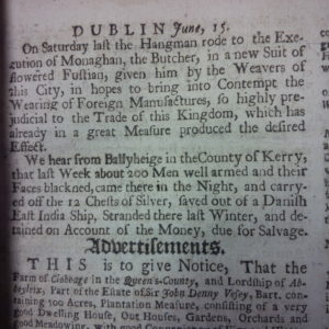Pue's Occurrences, (June 1731) reports 'about 200 men' were involved in the raid. Shelf mark: IN.18.42.
