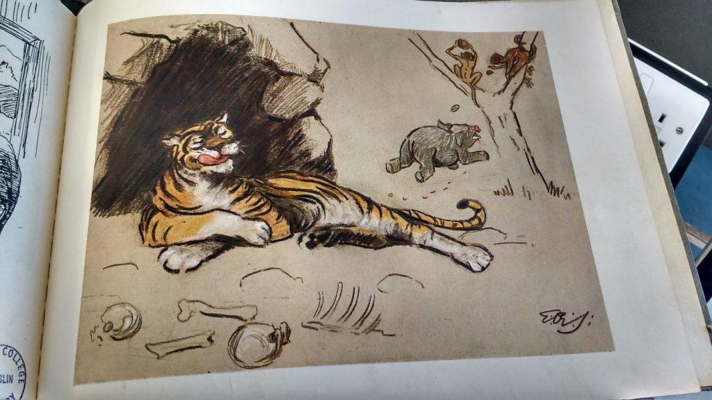 tiger licking lips