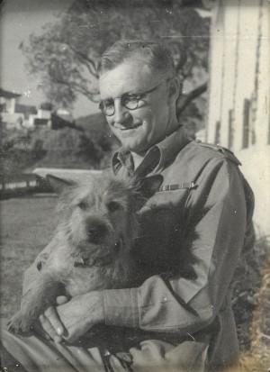 Crookshank with dog