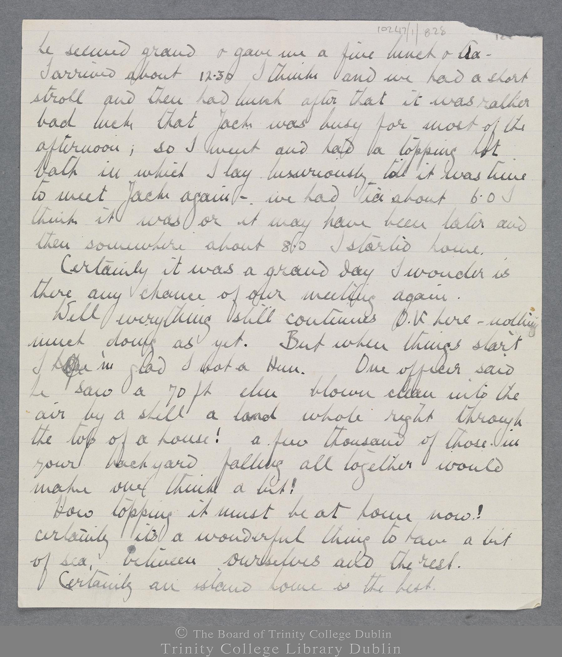 TCD MS 10247/1/828 folio 2 recto