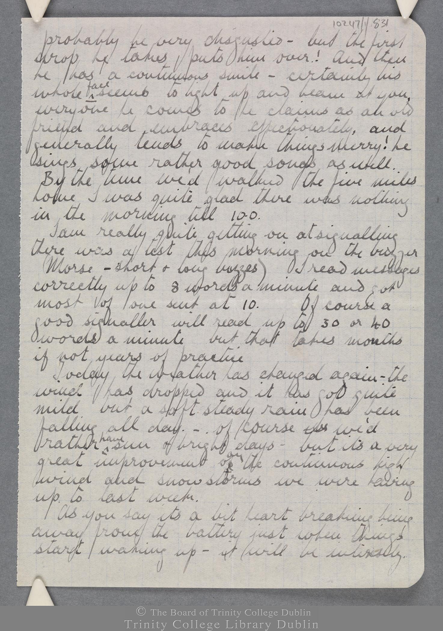 TCD MS 10247/1/831 folio 6 recto