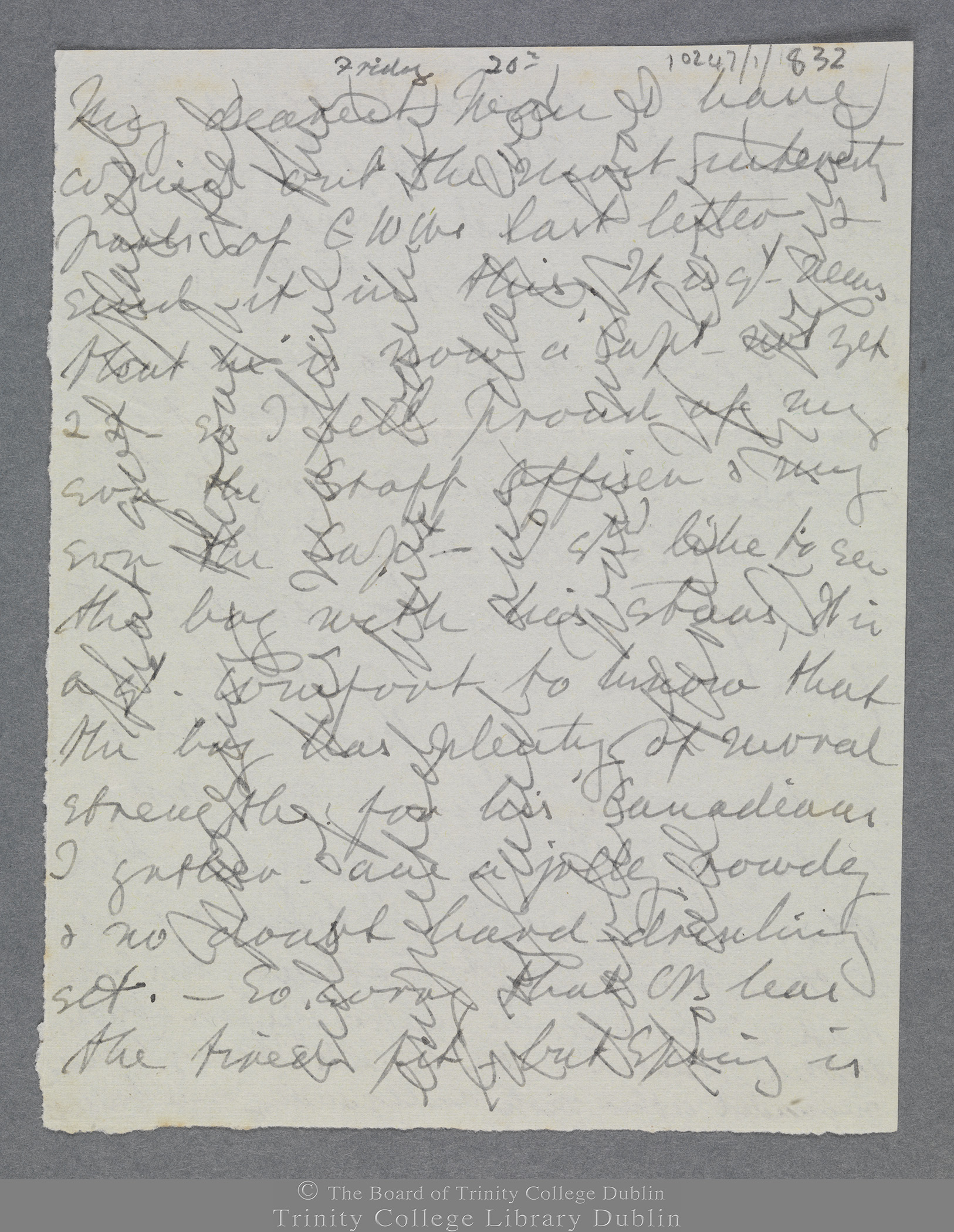 TCD MS 10247/1/832 folio 1 recto