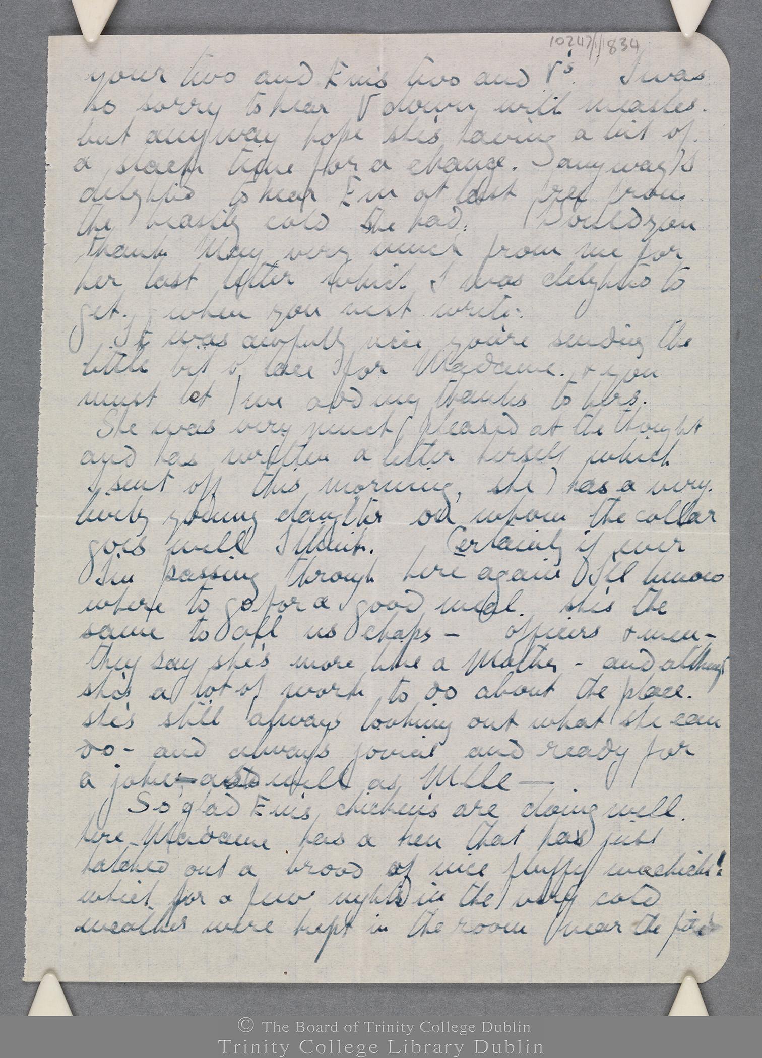 TCD MS 10247/1/834 folio 2 recto