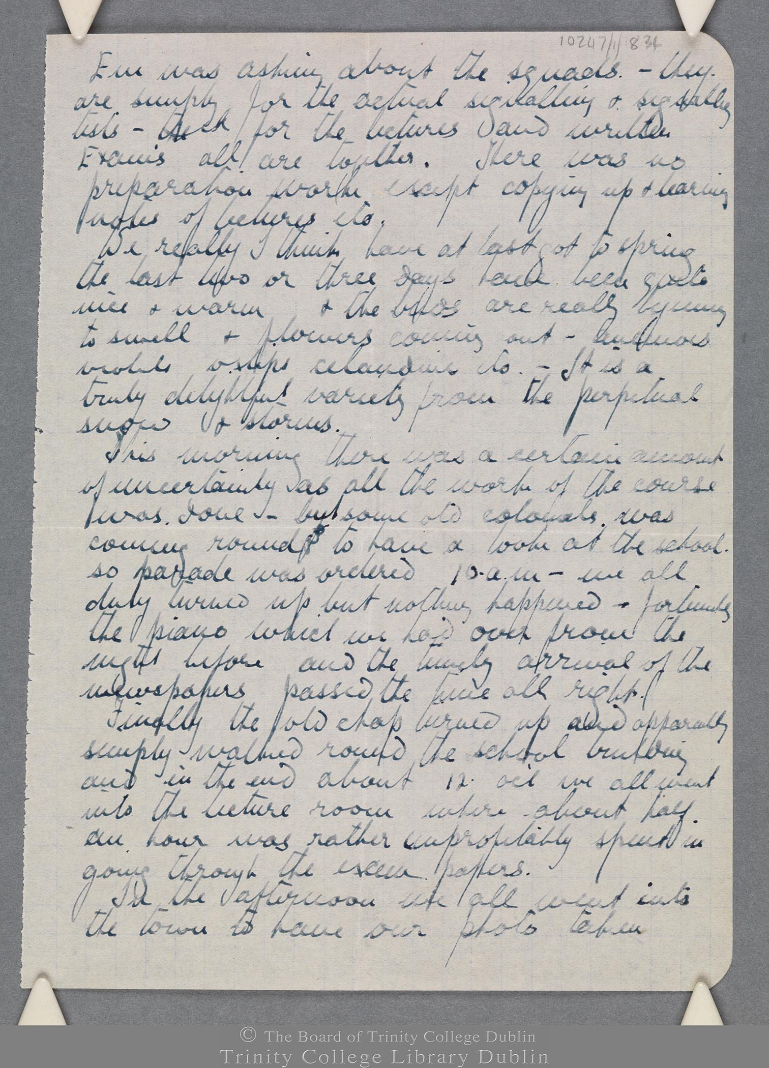 TCD MS 10247/1/834 folio 3 recto