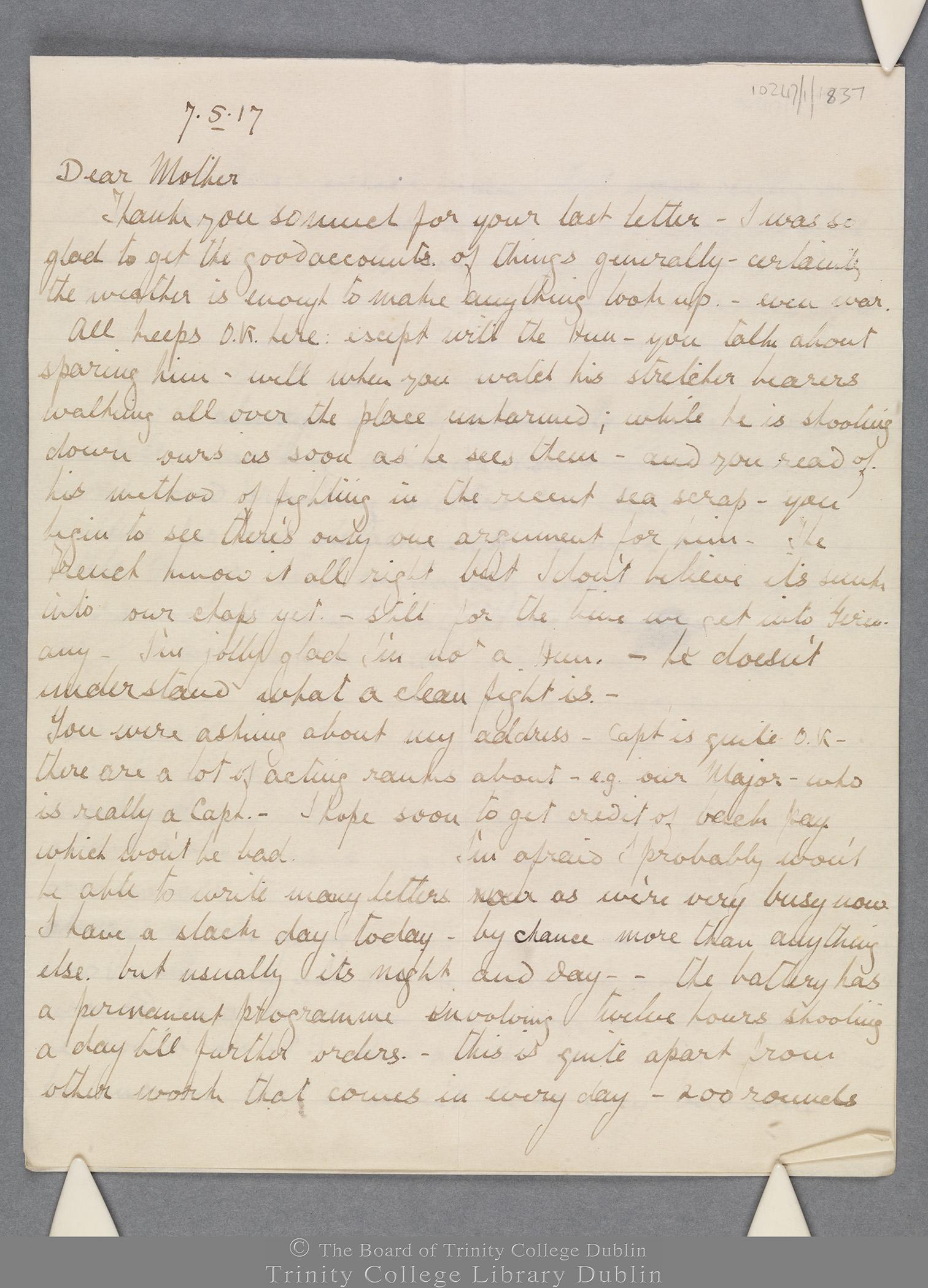 TCD MS 10247/1/837 folio 1 recto