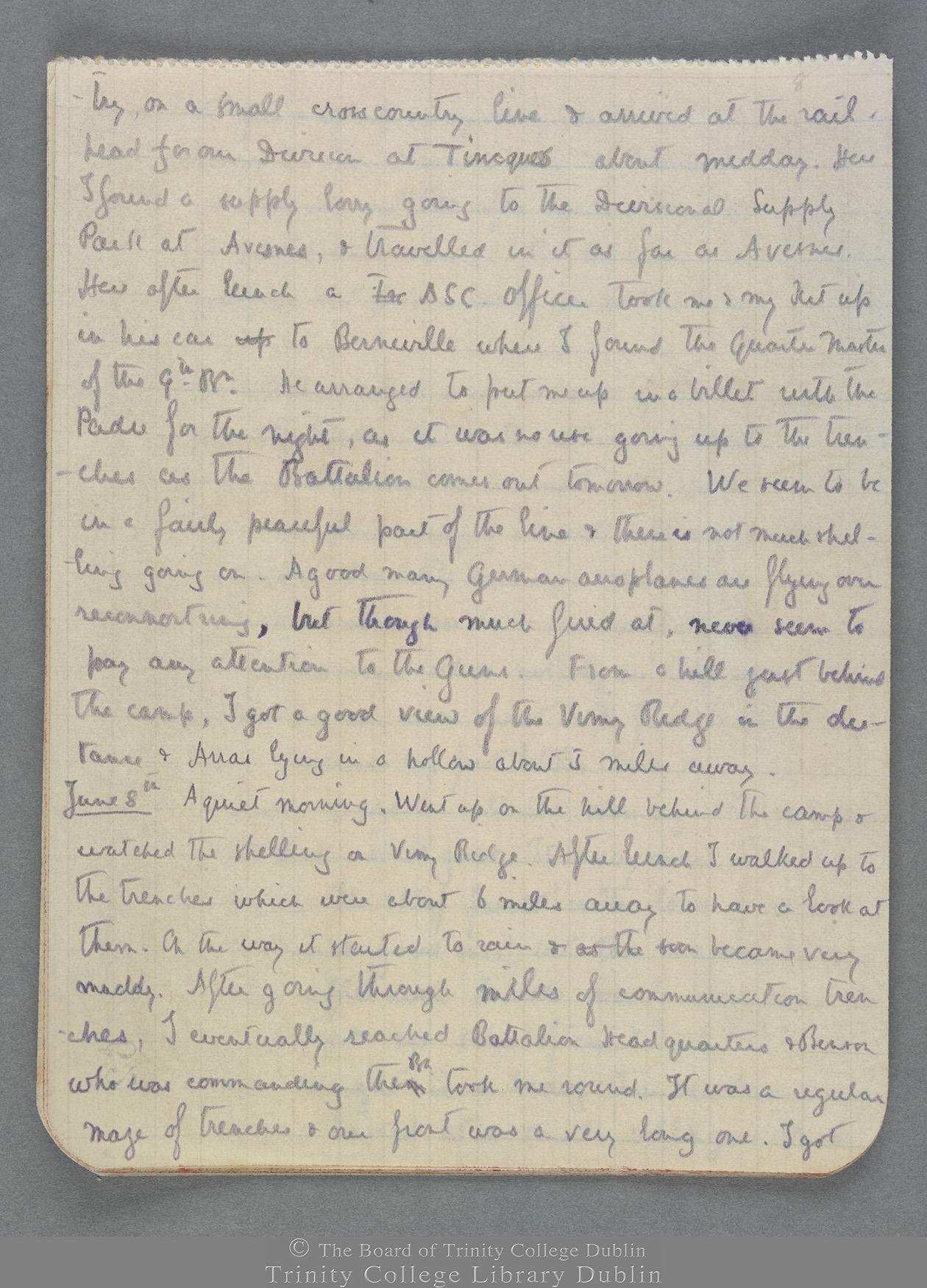 TCD MS 10821 folio 8 recto