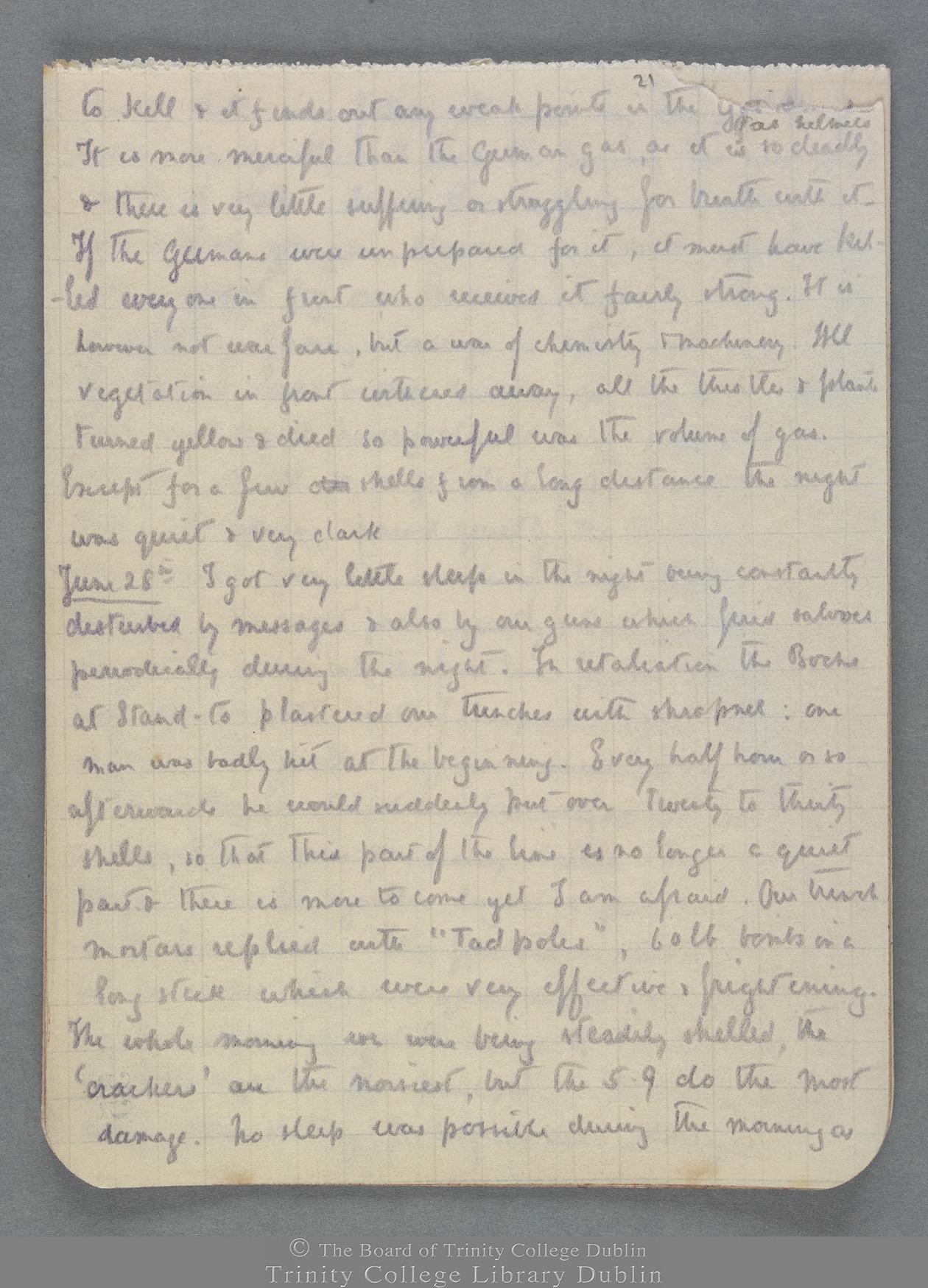 TCD MS 10821 folio 21 recto