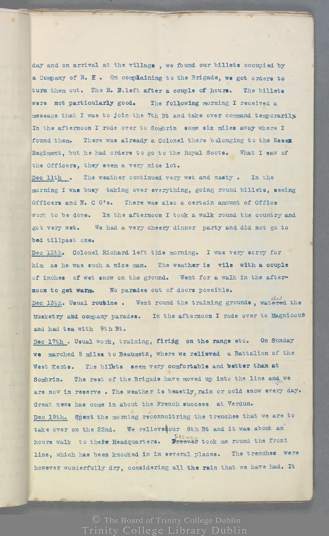 TCD MS 10822 folio 3 recto
