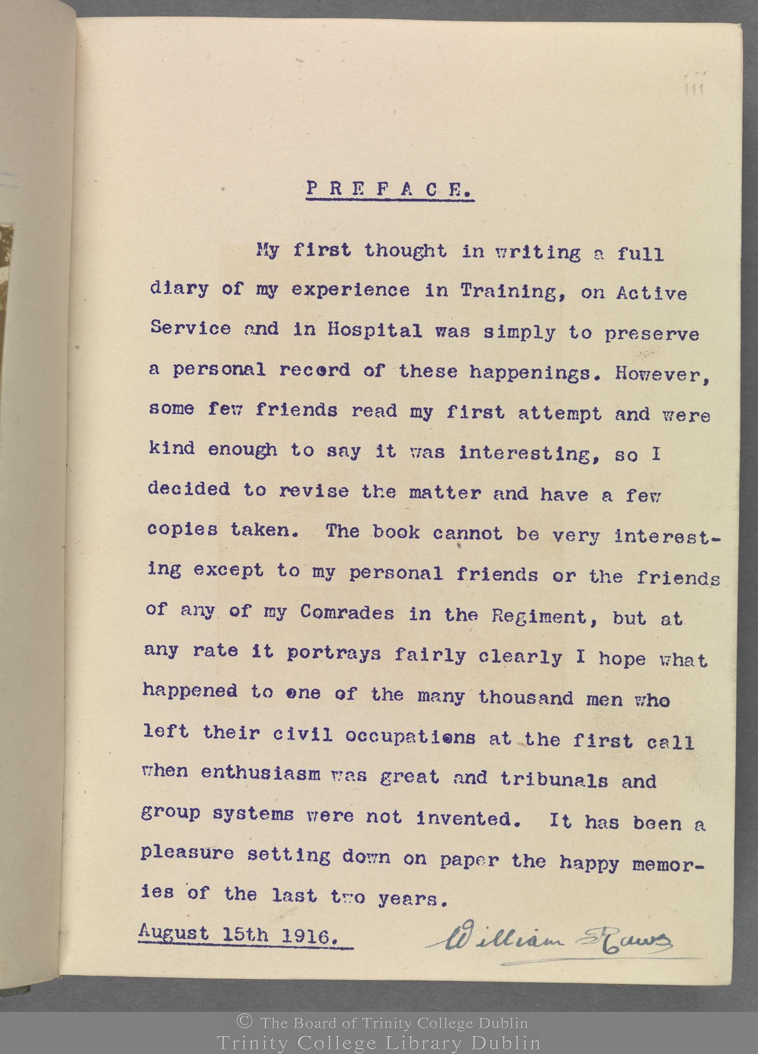 TCD MS 10853 folio iii recto
