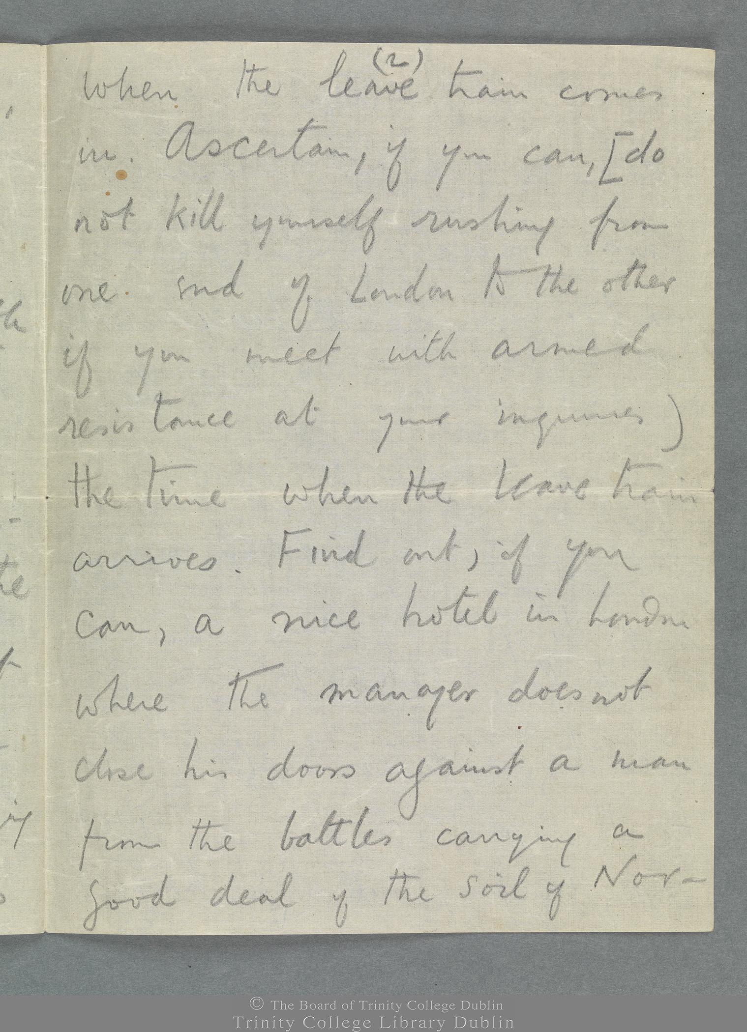 TCD MS 11274/19 folio 1 verso