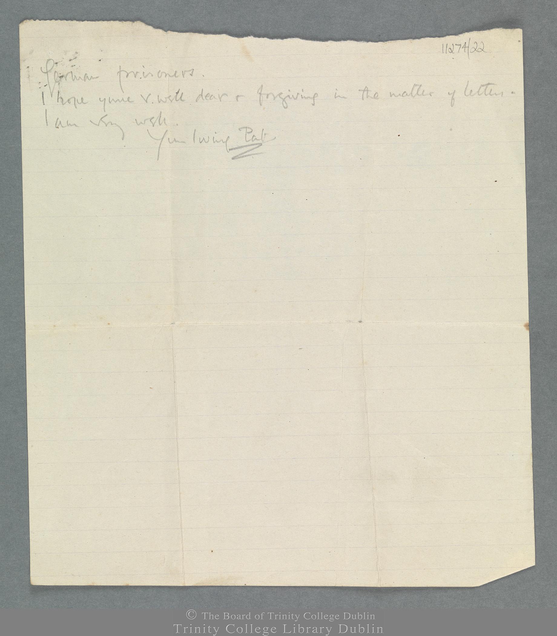 TCD MS 11274/22 folio 3 recto