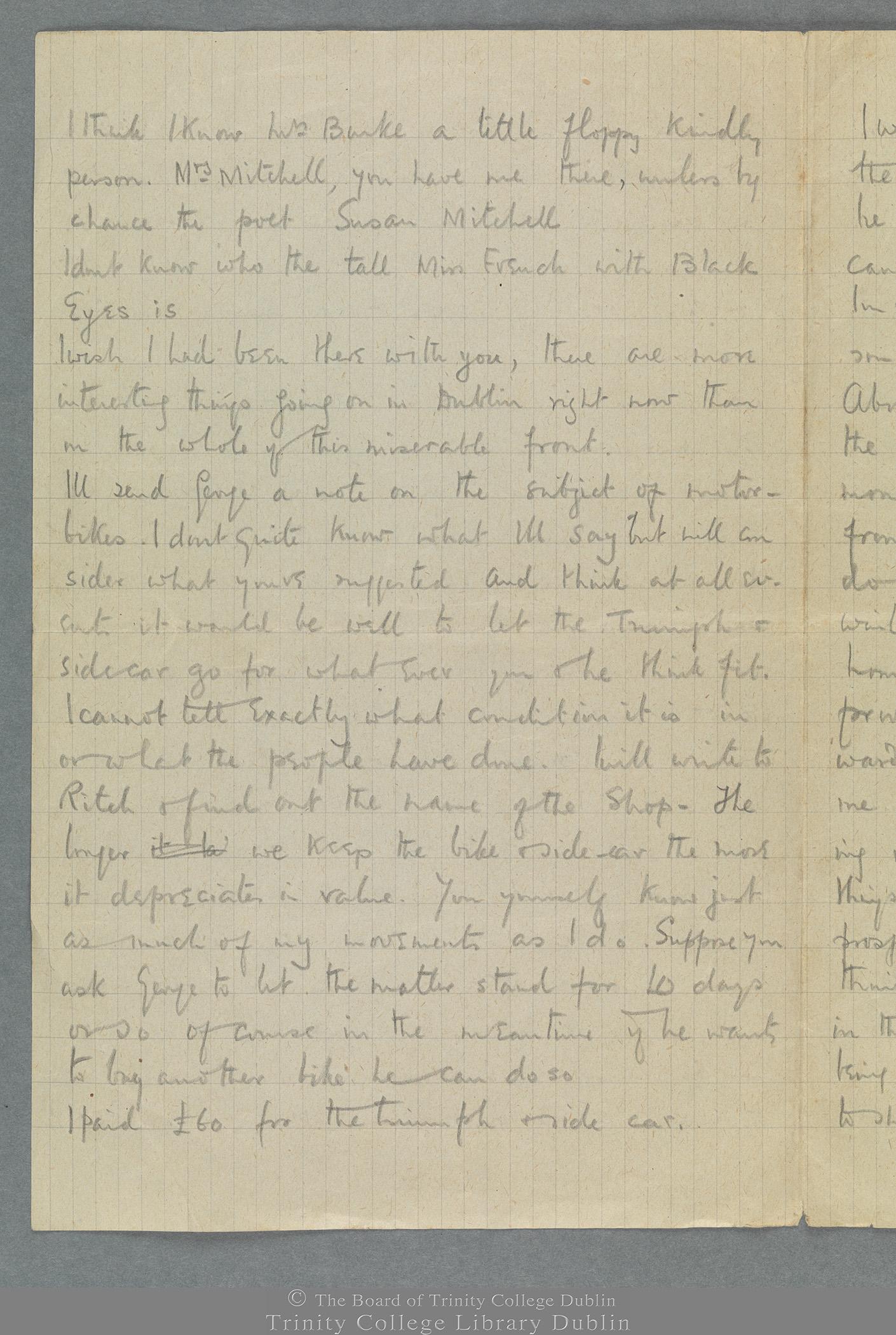 TCD MS 11274/2 folio 1 verso