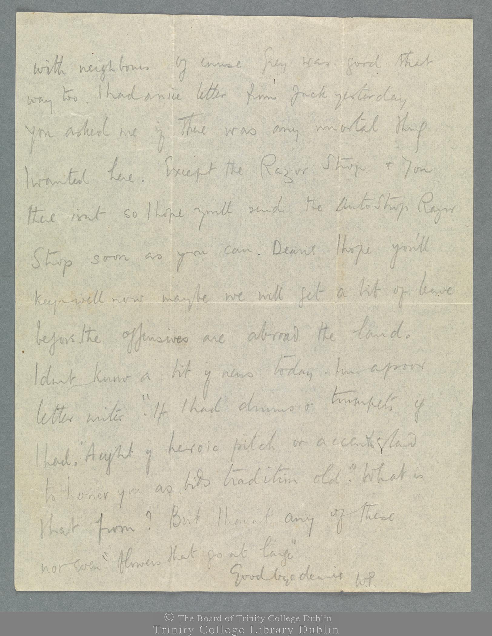 TCD MS 11274/53 folio 1 verso