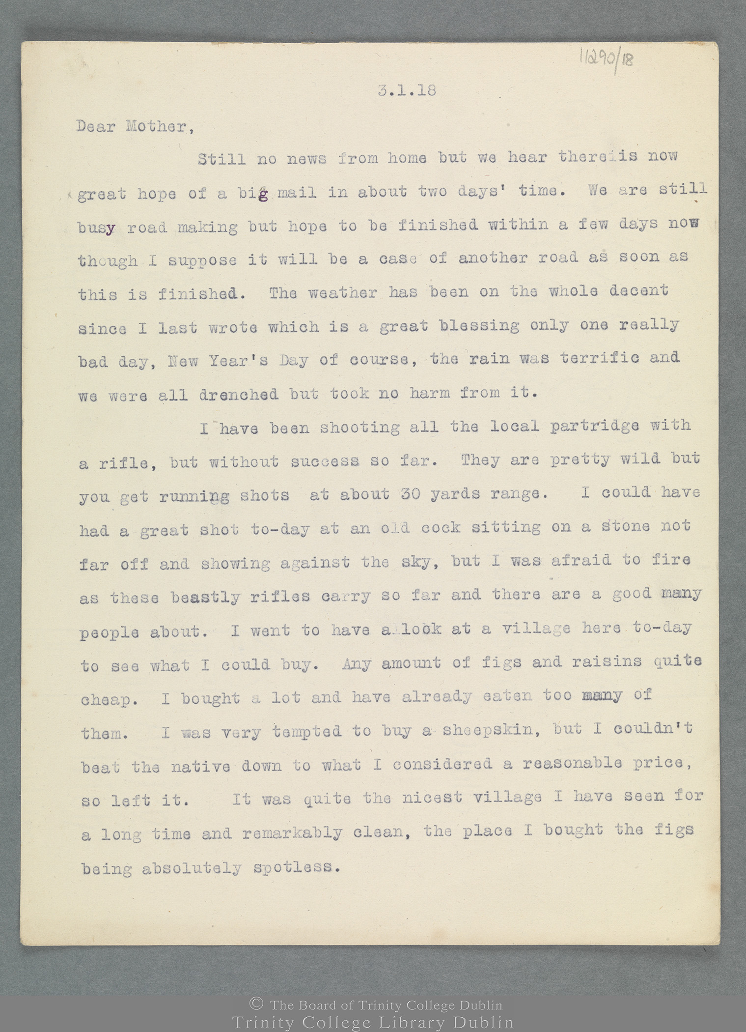 TCD MS 11290/18 folio 1 recto