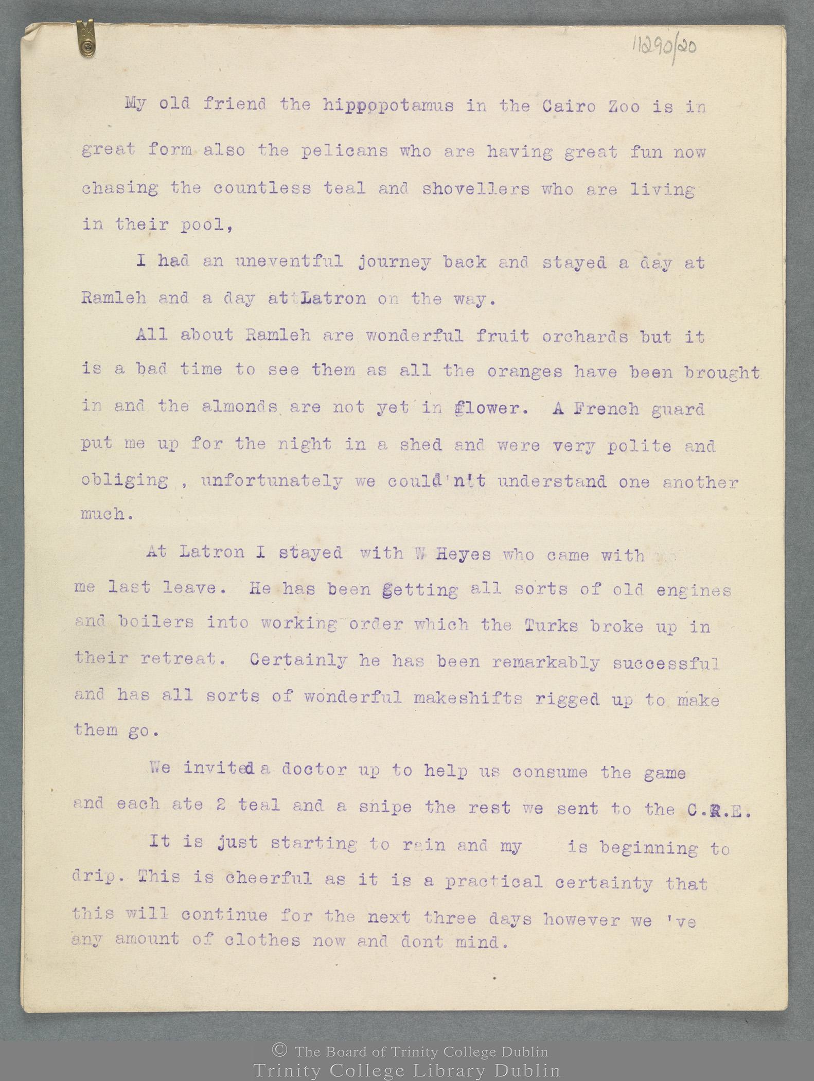 TCD MS 11290/20 folio 1 recto