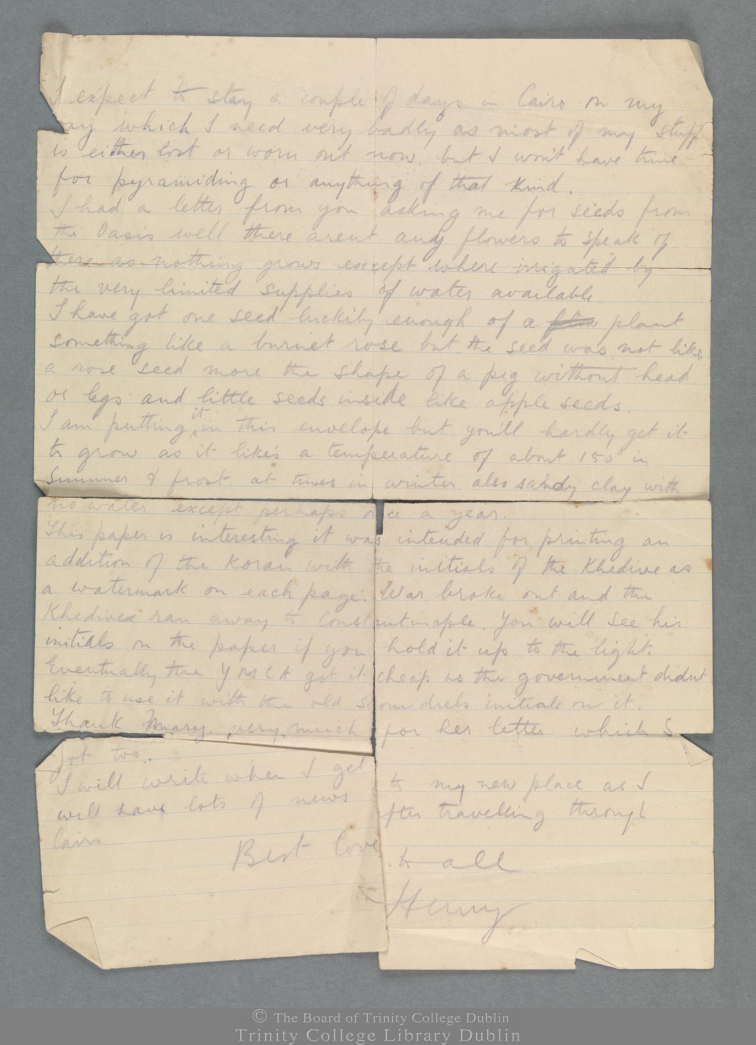 TCD MS 11290/2 folio 1 verso
