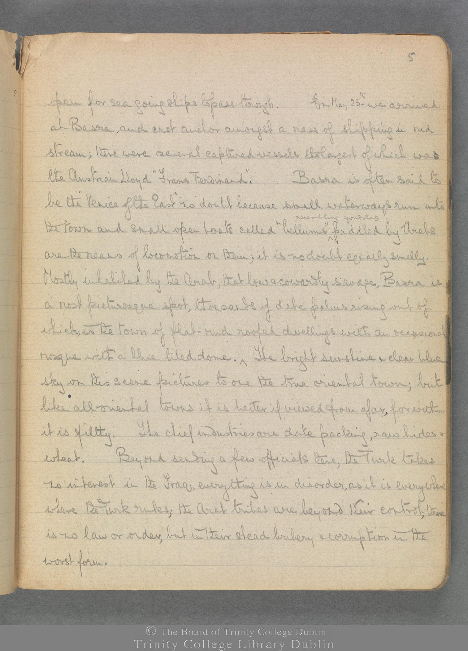TCD MS 3414 folio 5 recto