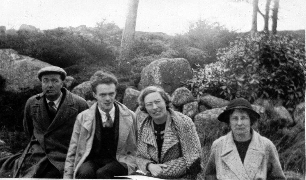 Frederick May (second from left) with Ina Boyle and Aloys Fleischmann, 1938.