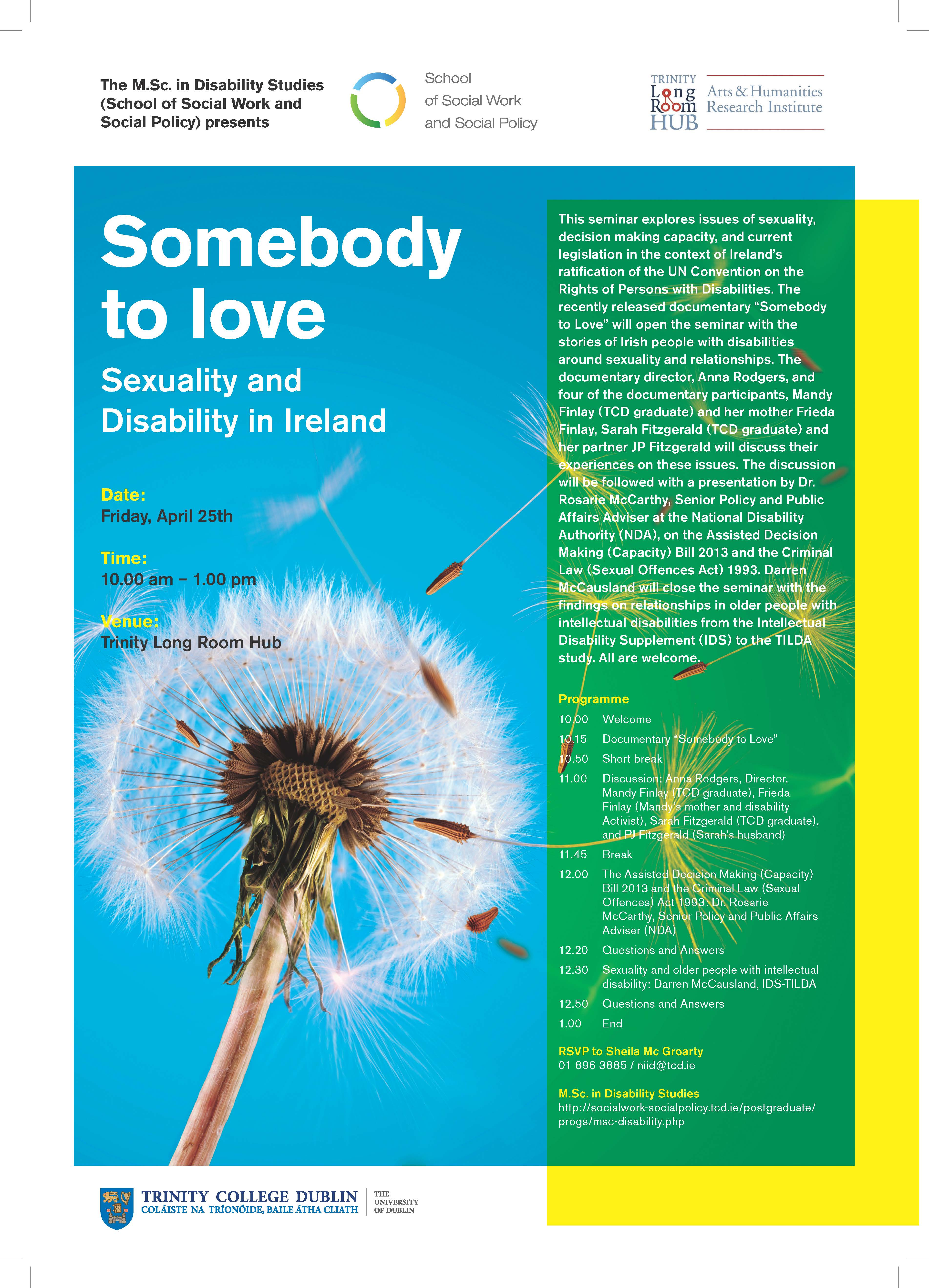 Somebody to Love - School of Social Work and Social Policy