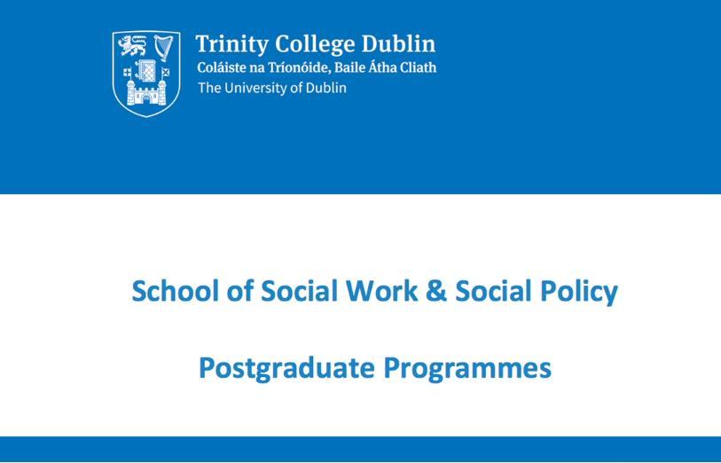 postgraduate social work course