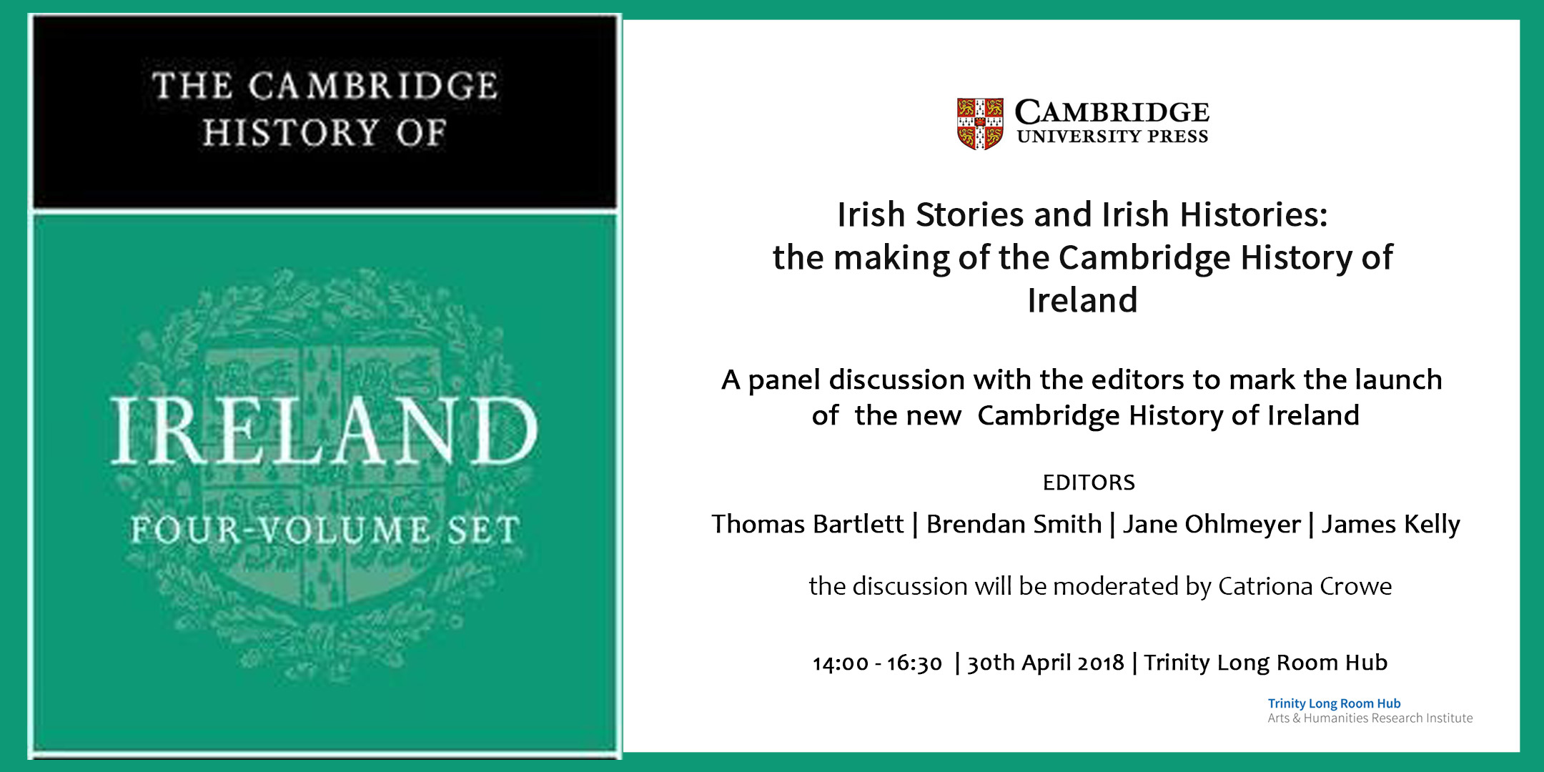 The Cambridge History of Ireland – Live stream   Historians